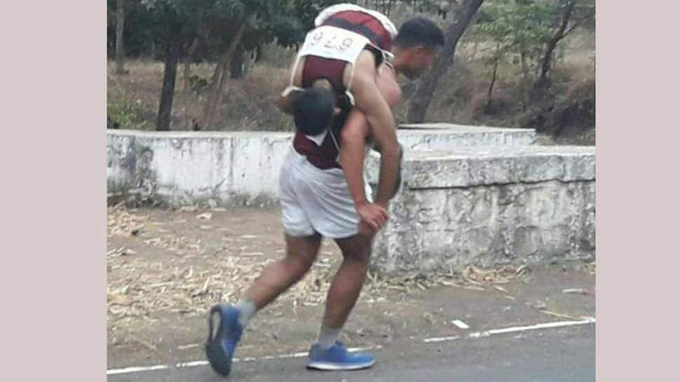 'Real Men': NDA cadet carries injured squadron mate on back to finish run