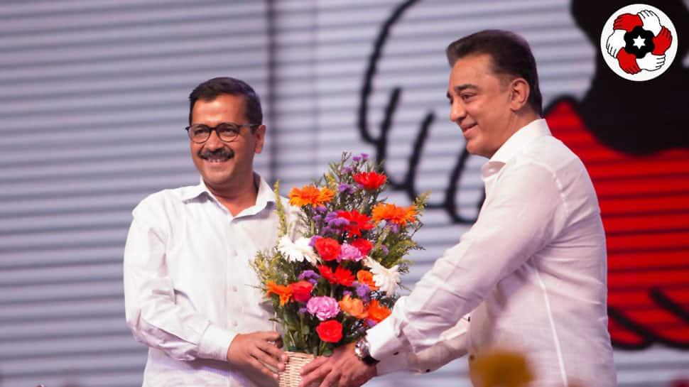 Kamal Haasan an alternative to DMK, AIADMK: Arvind Kejriwal appeals for votes to Makkal Needhi Maiam