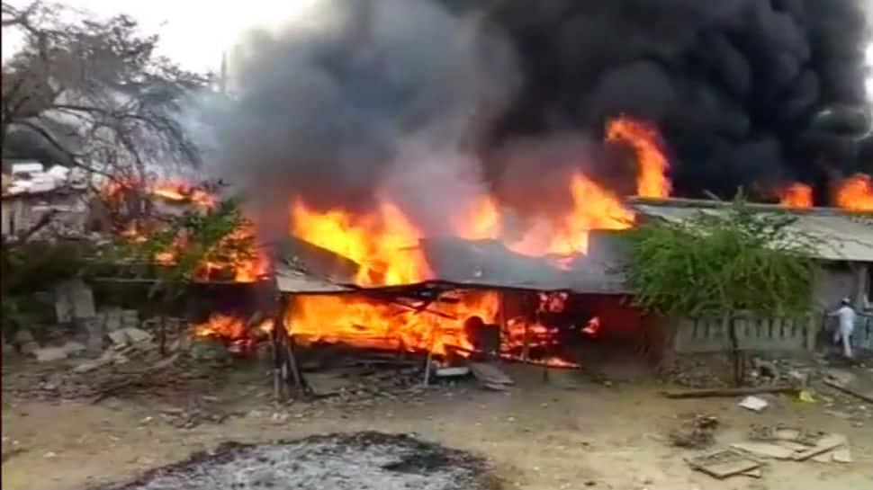 Massive fire in scrap godown in Gujarat, 7 fire tenders rushed