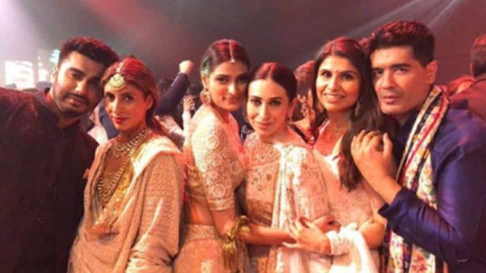 Abhishek Bachchan, Karisma Kapoor attend Mohit Marwah's wedding