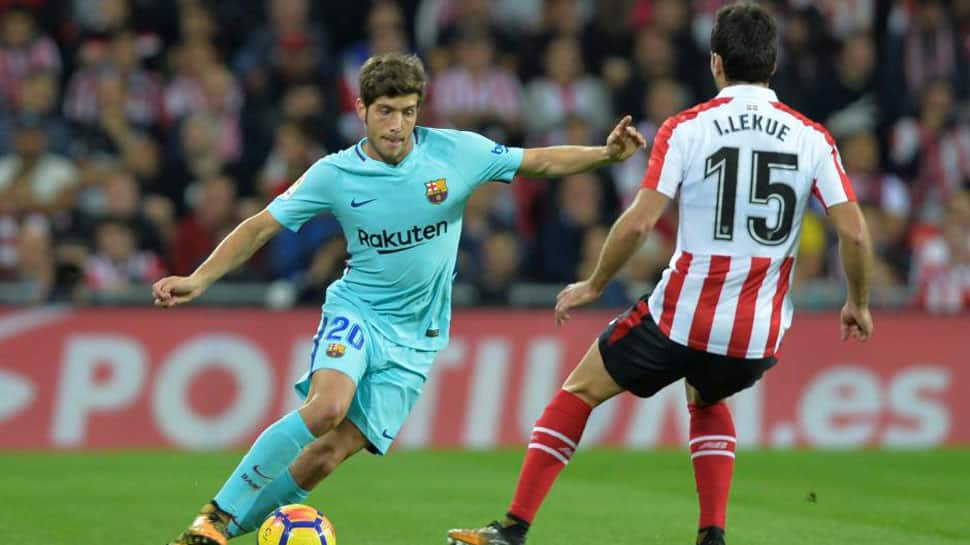 Barcelona renew midfielder Sergi Roberto's contract