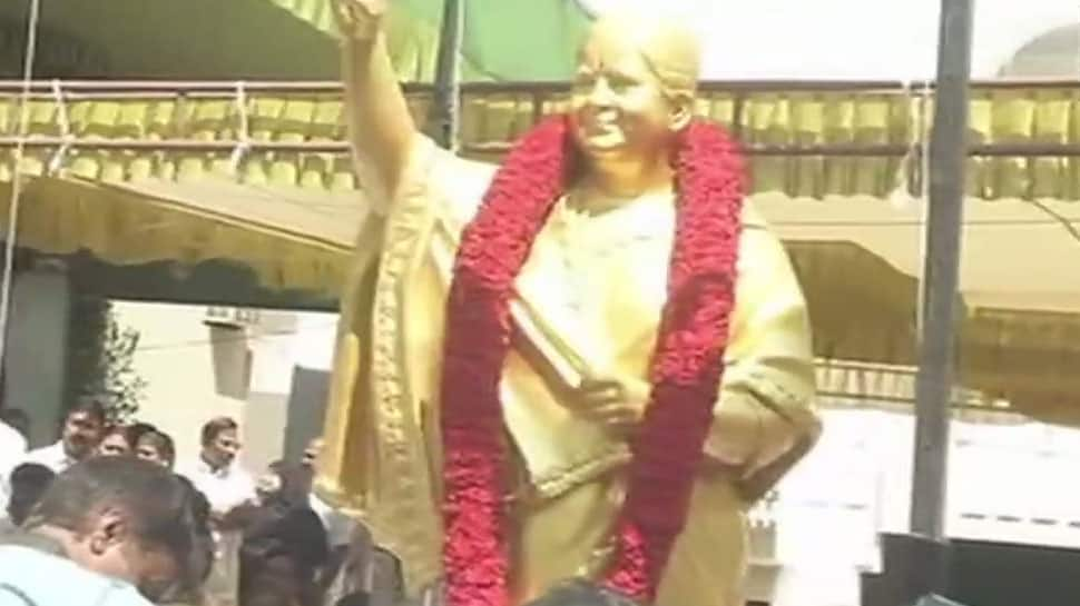 AIADMK unveils Jayalalithaa's statue on her 70th birth anniversary in Chennai
