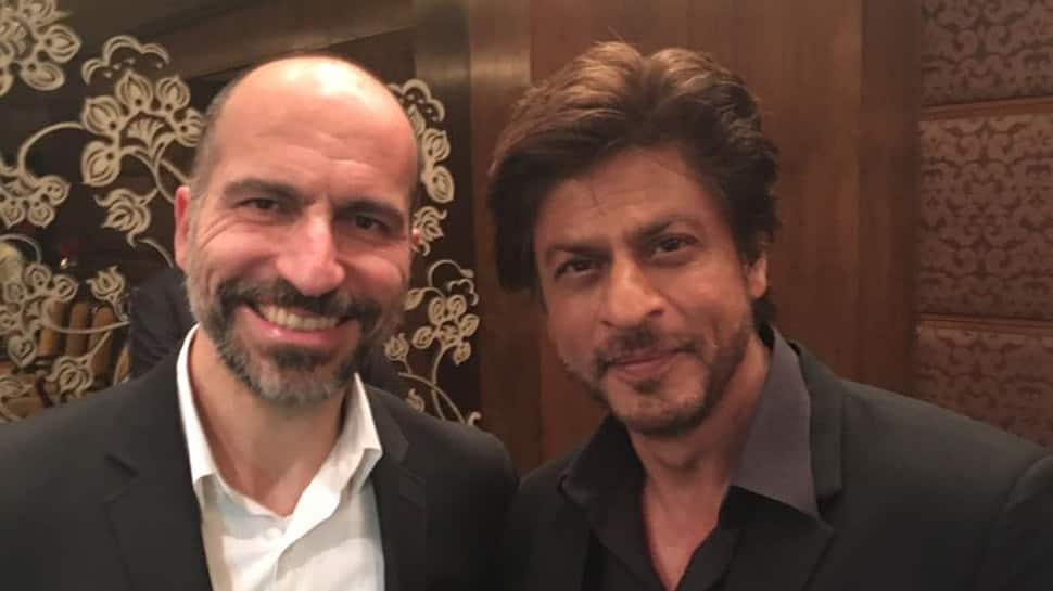 'Cooler than King Khan': Uber CEO's photo with Shah Rukh has Twitter going crazy