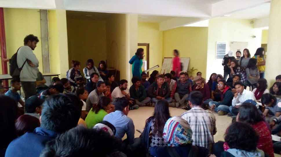 TISS students refuse to back down, protests continue over cancellation of scholarship