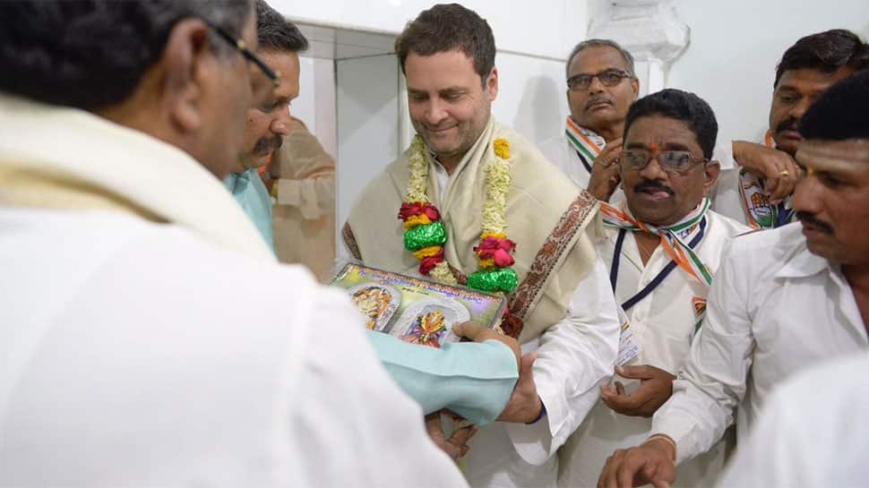 Karnataka polls: Rahul Gandhi seeks blessings at Godchi Temple in Ramdurg