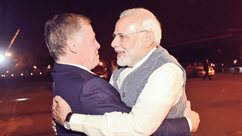 PM Narendra Modi breaks protocol again, receives Jordan King at airport
