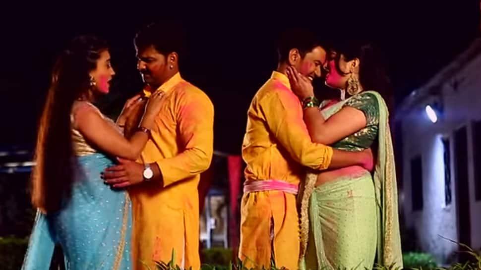 Viral Bhojpuri song: Nirahua, Pawan Singh, Amrapali, Akshara's 'Saheli Ke Holi' is a rage on internet—Watch