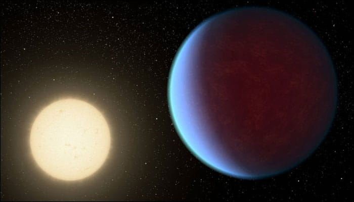 Astronomers detect water in Saturn-sized exoplanet's atmosphere