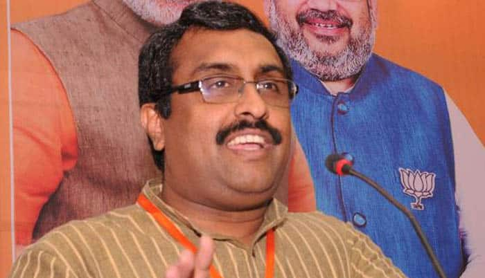 BJP's revolutionary win in Tripura is blessing of Sundari Mata: Ram Madhav