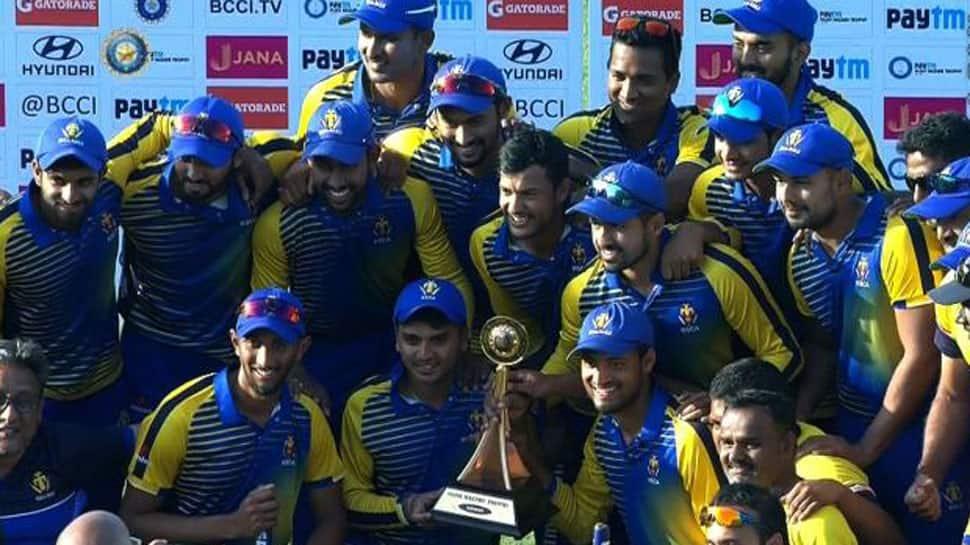 Vijay Hazare champions Karnataka to face India B in Deodhar final