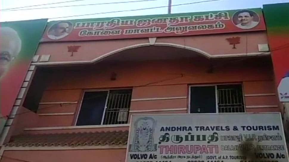 Petrol bomb hurled at BJP office in Coimbatore