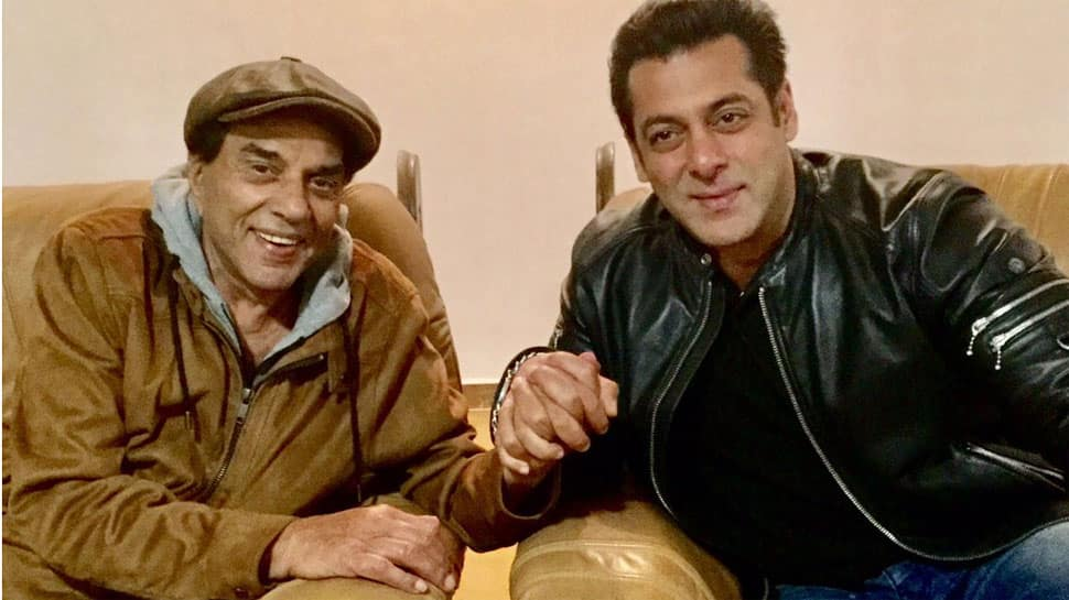 Salman Khan shoots a special song with veteran star Dharmendra—See pic