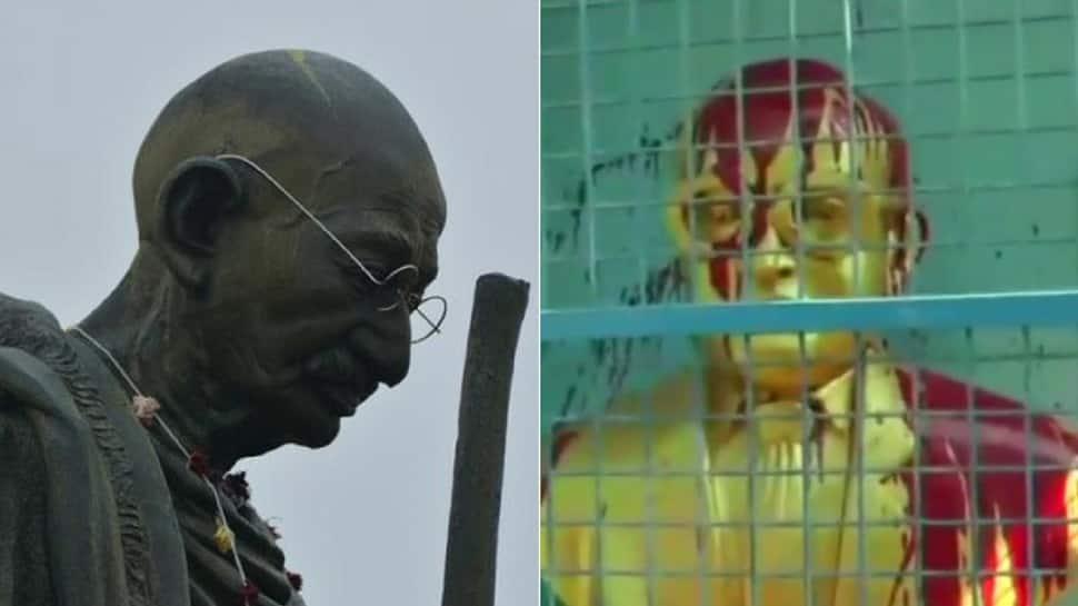 After Lenin and Periyar, vandals target statues of Mahatma Gandhi and Ambedkar