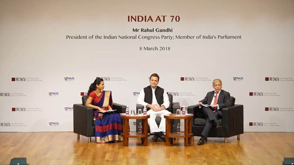 Gandhi's idea of India is being challenged: Rahul's swipe at Modi govt in Singapore