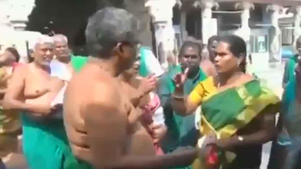 Video: BJP member slaps farmer leader for distributing pamphlets criticising Centre