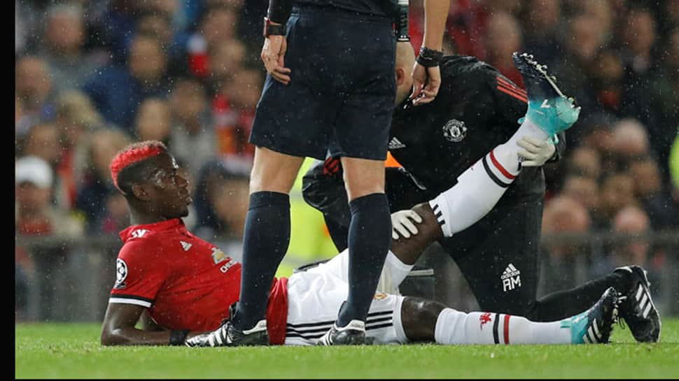 Training session injury forces Paul Pogba to miss Manchester United-Liverpool game