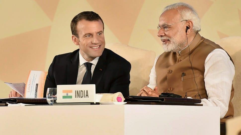 French President Emmanuel Macron pledges 700 million euros to International Solar Alliance