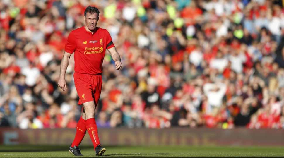 Former Liverpool defender Jamie Carragher apologises for spitting at a girl