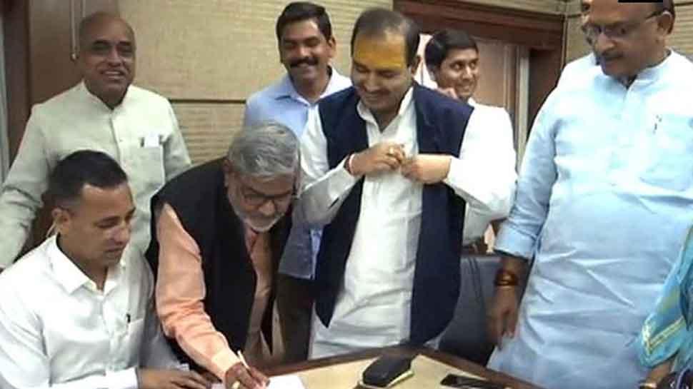Rajya Sabha polls: BJP's Thawar Chand Gehlot, Ajay Pratap Singh and Kailash Soni file nomination