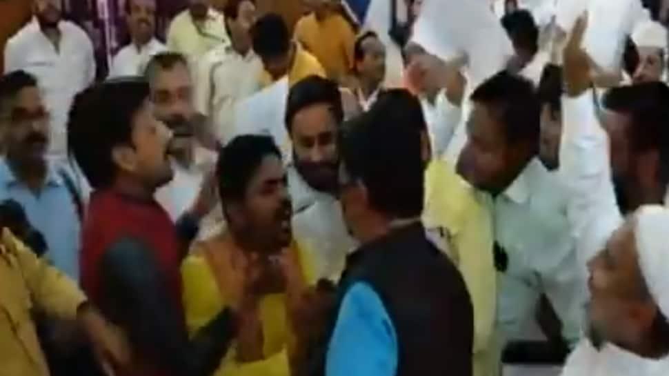 Watch: Scuffle between BSP, BJP councillors in Meerut municipal corporation