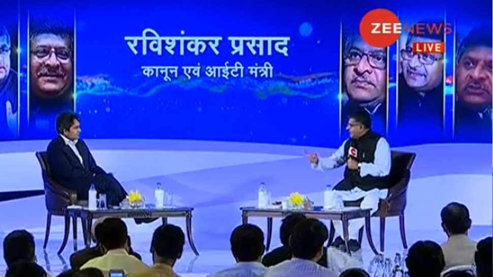 Zee India Conclave: BJP will get full majority in 2019 polls, says Ravi Shankar Prasad