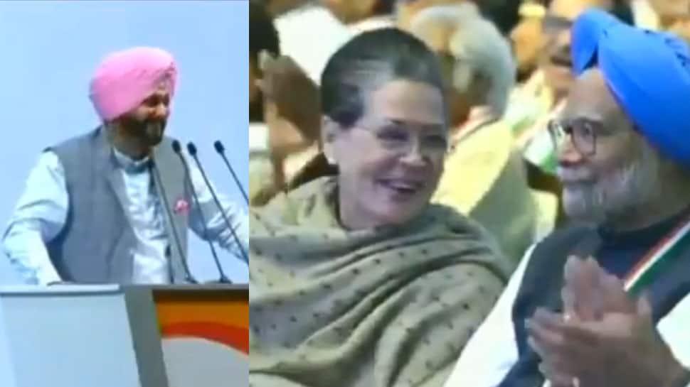 Sidhuism at Congress Plenary: One-liner on fellow Sardarji Manmohan Singh cracks up Sonia, workers | Watch