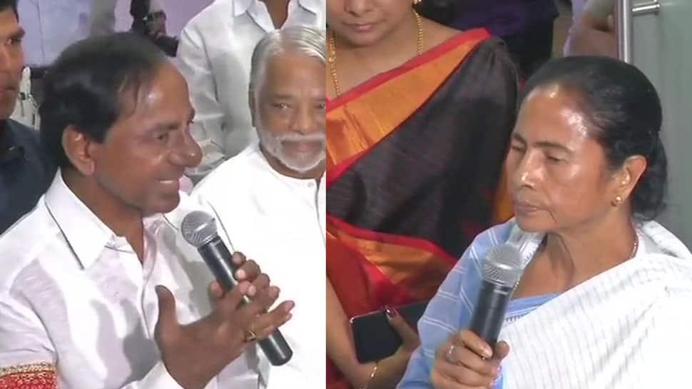 With third front on mind, Telangana's KCR meets Trinamool's Mamata Banerjee