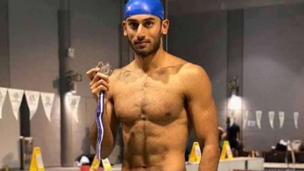 Virdhawal Khade wins gold at the Singapore National Age Group Swimming Championships