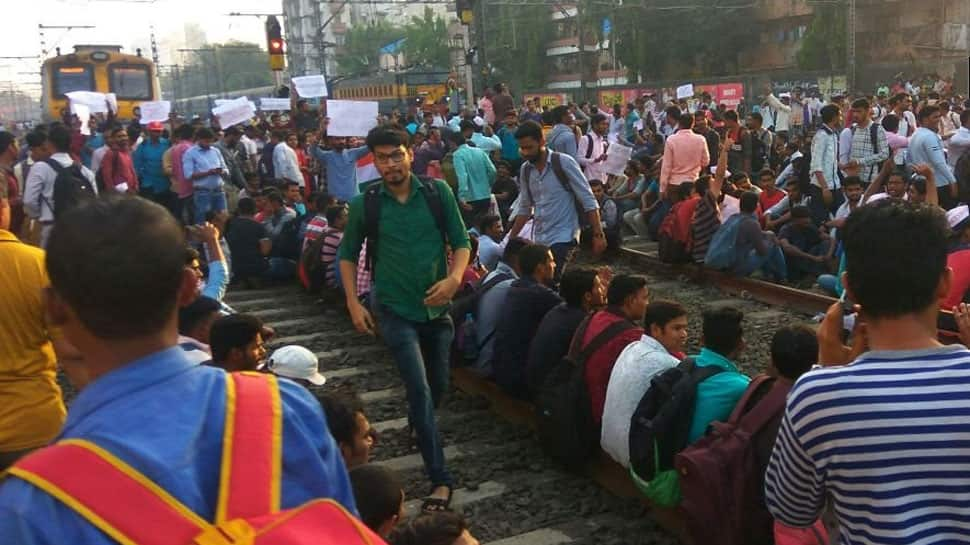 Job aspirants stall Central line train services in Mumbai, leave commuters stranded