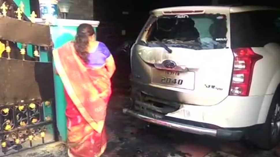 Watch: Petrol bomb thrown at BJP leader's car in Coimbatore