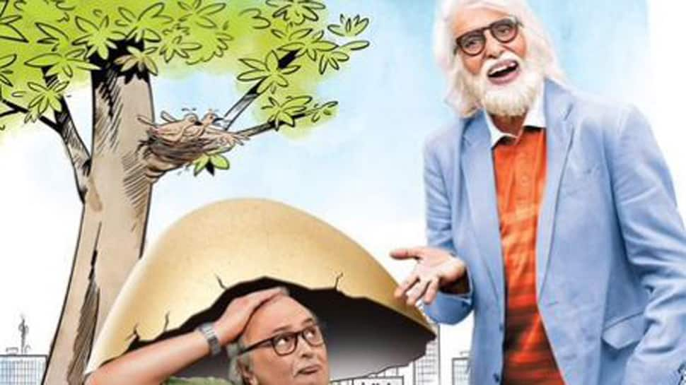 102 Not Out: 'Son' Rishi Kapoor and 'dad' Amitabh Bachchan look too cute in new poster