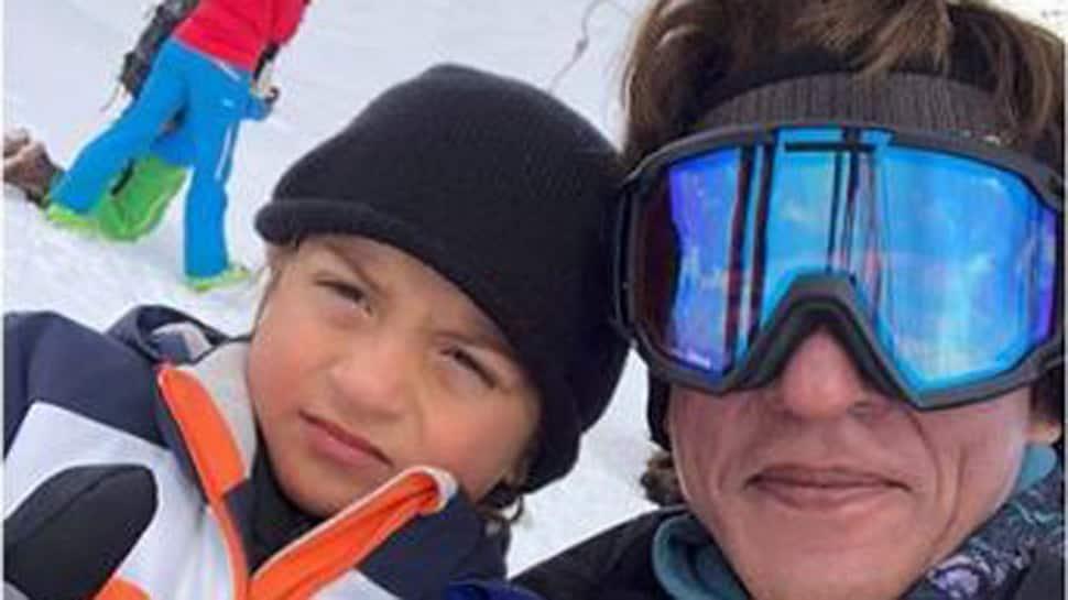 Shah Rukh Khan goes skiing with 'champion' AbRam
