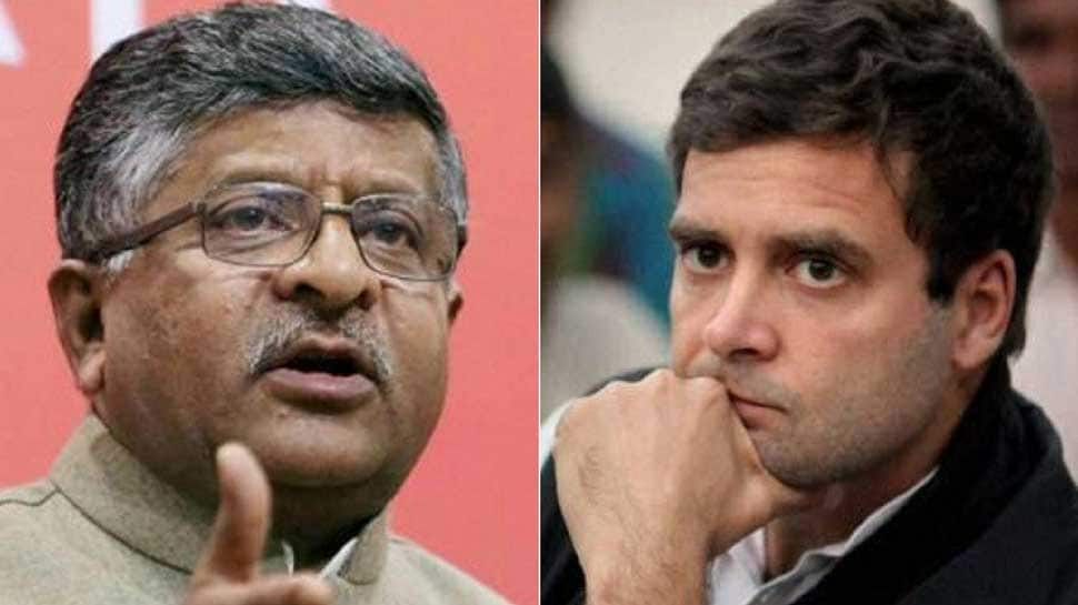Twitter war between Rahul Gandhi, Ravi Shankar Prasad over Facebook data leak scandal