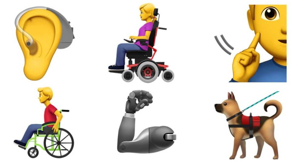 Apple offers 13 new emojis to represent people with disabilities