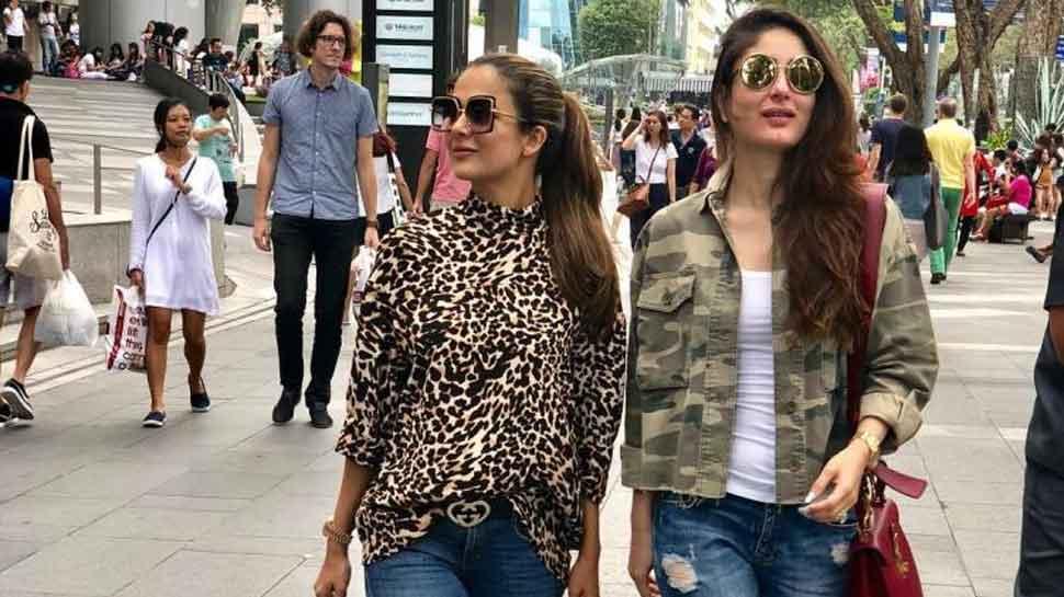 Kareena Kapoor, Amrita Arora roam around streets of Singapore  — Pic inside