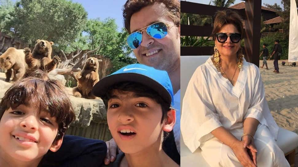 Hrithik Roshan's mom Pinkie works out like a boss lady while son and grandchildren watch in awe