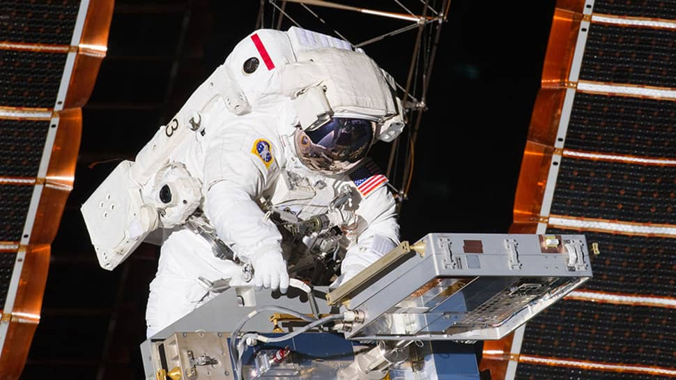 NASA astronauts to conduct spacewalk outside space station today