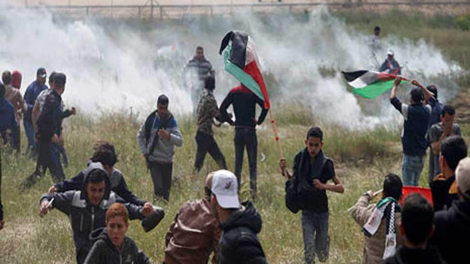 Seven Palestinians killed, hundreds injured in Gaza clashes
