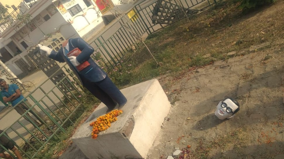 2 Ambedkar statues vandalised in UP in 24 hours, protests triggered