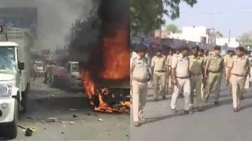 Bharat Bandh: Curfew continues in Rajasthan's Hindaun; flag march by police in MP's Gwalior