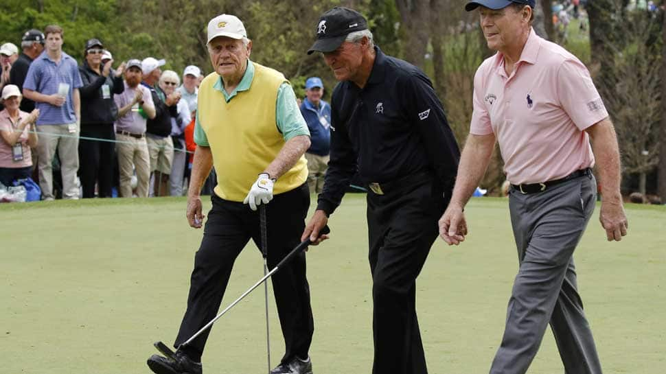 US Masters: Watson wins Par-3 for the old guard, young Nicklaus makes ace
