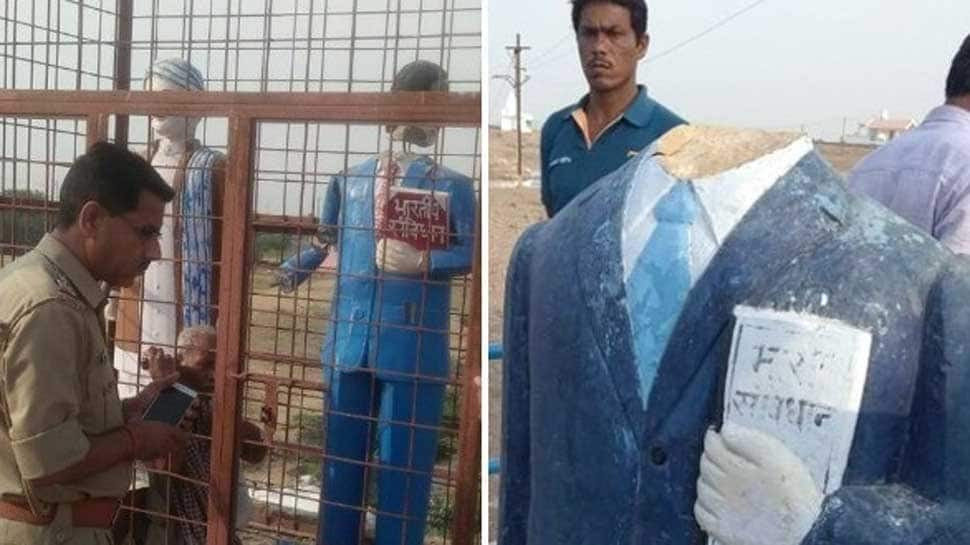 Amid defacing and vandalism spree, UP police shield for statues of famous figures