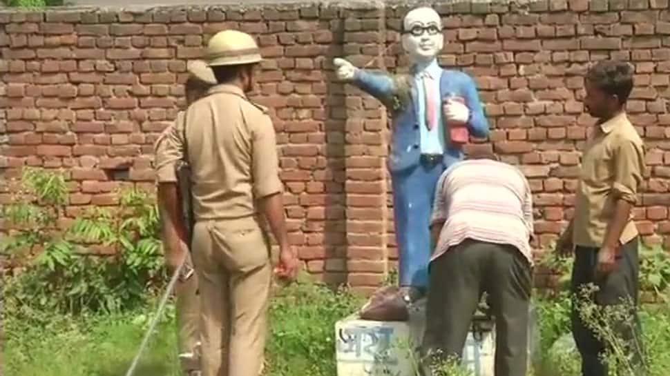 Statue vandalism continues, another sculptor of BR Ambedkar damaged in Uttar Pradesh