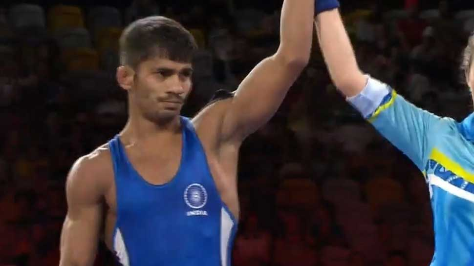 Commonwealth Games 2018, Gold Coast: Rahul Aware wins Gold in men's 57kg freestyle