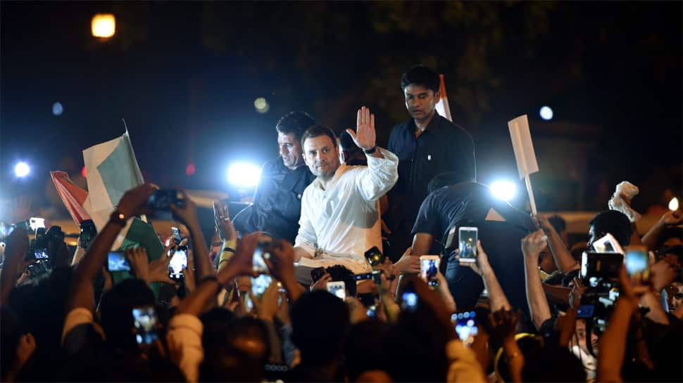 Act on your 'beti bachao' slogan: Rahul Gandhi urges Modi government in midnight candle light vigil