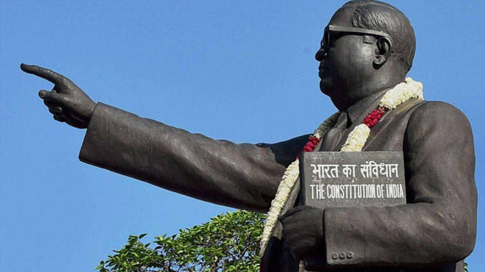Dalits 'cleanse' Ambedkar statue with milk after tributes by Maneka Gandhi, BJP leaders