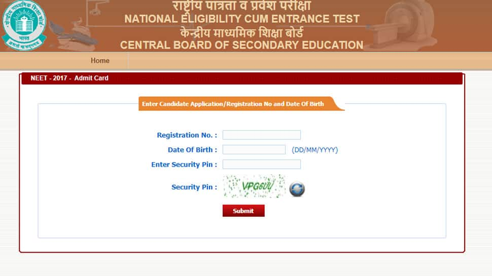 CBSE NEET 2018 Admit cards released at cbseneet.nic.in, follow these steps to download hall ticket
