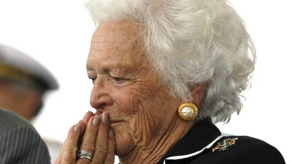 Former US first lady Barbara Bush dies at 92 lady Barbara Bush dead at 92