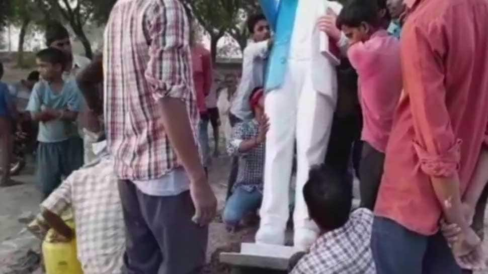 Amid statue vandalism spree, another BR Ambedkar's sculptor damaged in Ballia