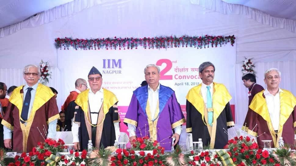 Rajya Sabha MP Subhash Chandra attends IIM convocation in Nagpur, gives success 'mantra' to students